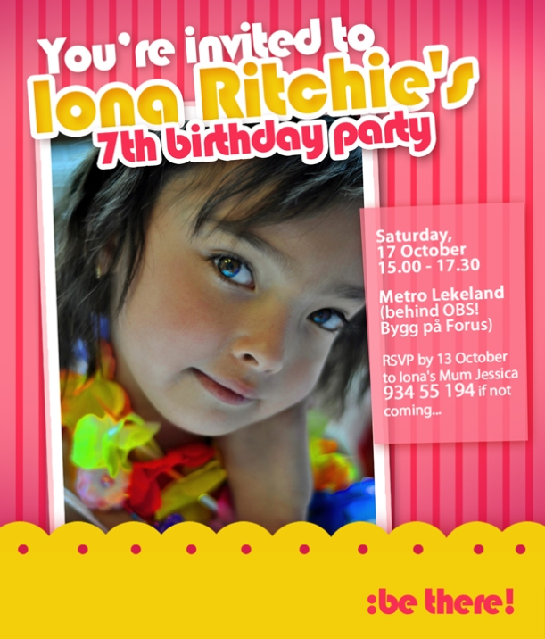 customized birthday invitation