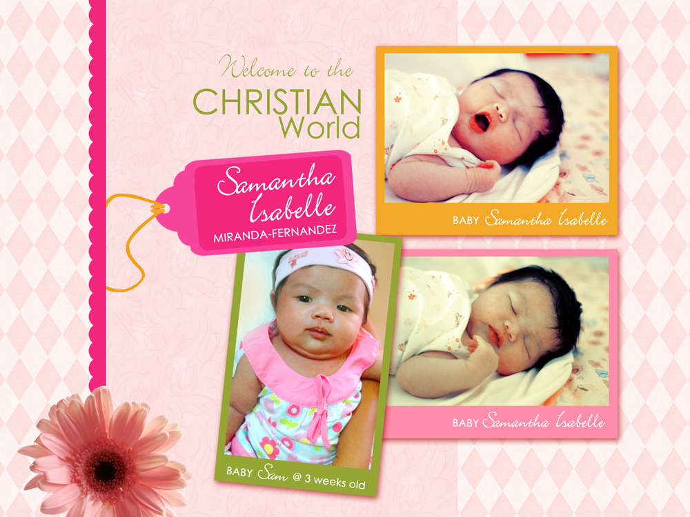 Customized Birthday and Christening Invitation Creative Mommy